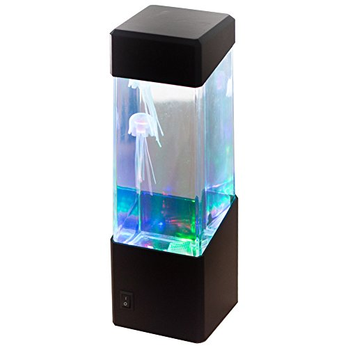 Fence Tropical Decor (Buildent(TM) Aquarium LED Light Jellyfish Tropical Fish Tank Relaxing Bedside Mood Light Novelty Gift for Kids Home Night Decor [Jellyfish ])