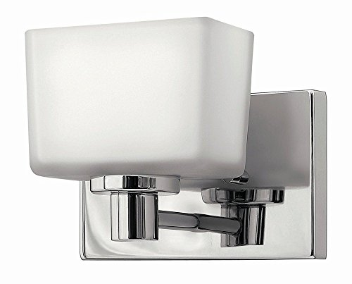 Hinkley 5020CM-LED Contemporary Modern One Light Bath Wall Sconce from Taylor collection in Chrome, Pol. (Hinkley Chrome Sconce)