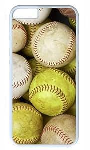 Baseball Design DIY Hard Shell White Best Fashion iphone 6 Case