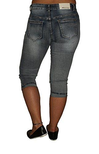 Jeans Jeans Donna BBS Blu Pantalone capri UdTdPw