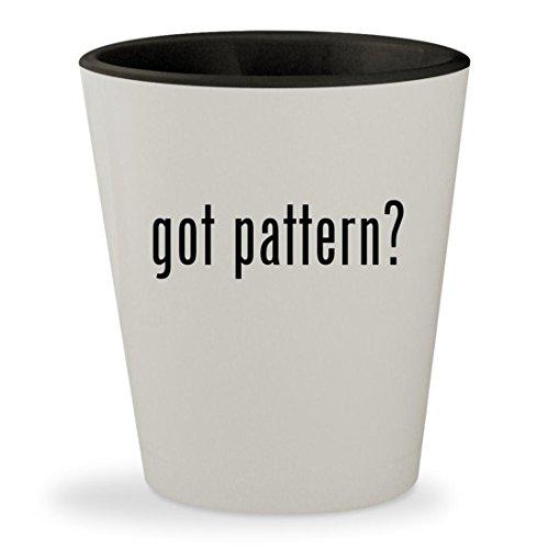 got pattern? - White Outer & Black Inner Ceramic 1.5oz Shot Glass - Mccalls Free Quilt Patterns