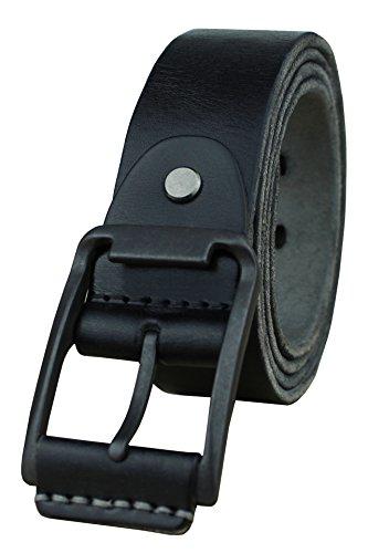 Heepliday Mens Leather Belt Full Grain Vintage Distressed Casual Jeans Belt 1 1/2 Wide