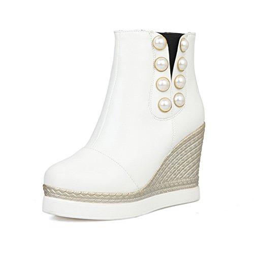 Rain White Heel Boots 1TO9 Platform Urethane Novelty Womens Flatform High 7w0qxHzw1