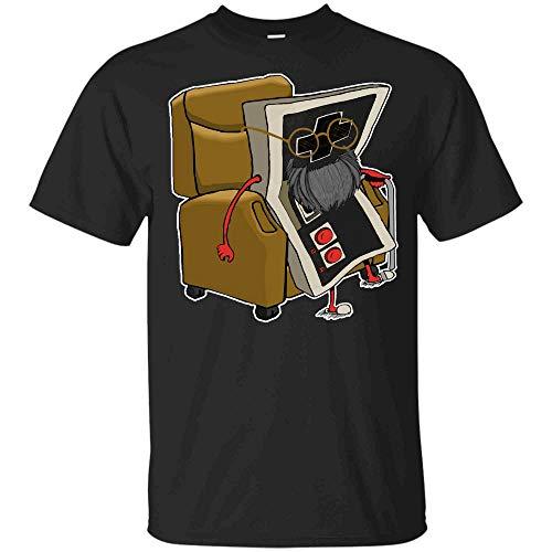 Old Gamer Tshirt Retro Video Game, Old Gamer T-Shirt Hoodie (Unisex T-Shirt;Black;4XL)