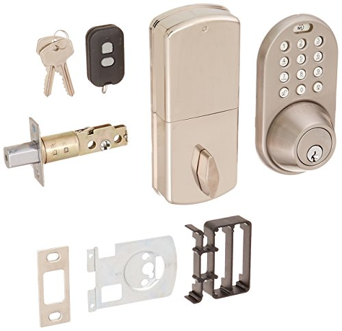 MiLocks XF-02SN Digital Deadbolt Door Lock with Keyless Entry via Remote Control and Keypad Code for Exterior Doors MiLocks