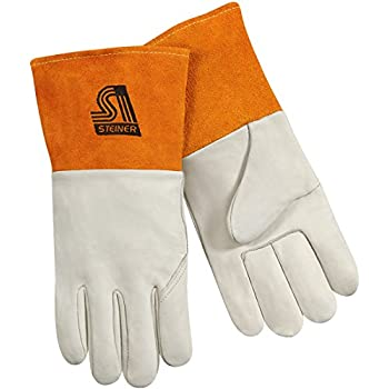Grain Pigskin Large Steiner P210-L MIG//TIG Gloves 4-Inch Cuff Unlined