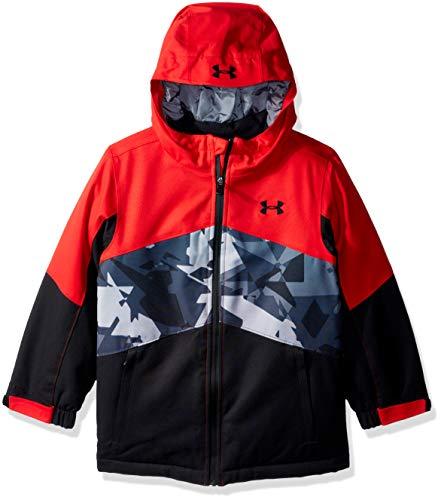 Under Armour Boys' Little Zumatrek Jacket, red, 4