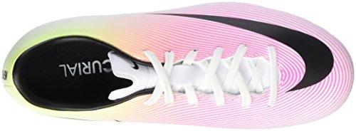 Nike Jr Mercurial Victory V Fg, Botas de Fútbol Unisex Bebé Blanco (White / Black-Volt-Total Orange)