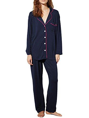 Ekouaer Women's Comfort Sleepwear Long Sleeve Pajama Set with Pj Pants (XS-XL)