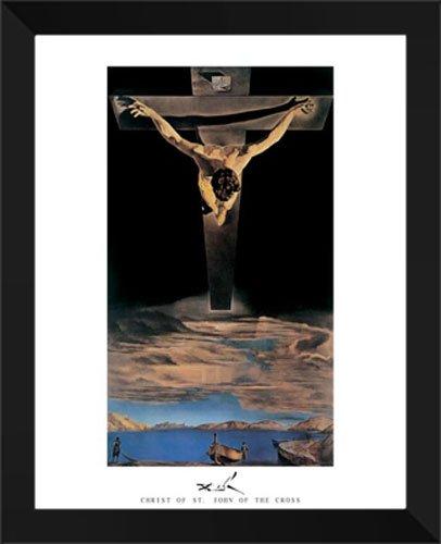 Christ Of St. John Of The Cross 26x32 Framed Art Print by Salvador Dali (Dali Christ Of St John Of The Cross)