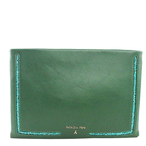 PATRIZIA PEPE , Damen Handgelenkstasche grün Green Glitter