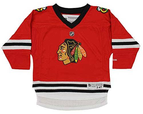 (NHL Chicago Blackhawks Toddlers Replica Hockey Jersey, Red (2T-4T))