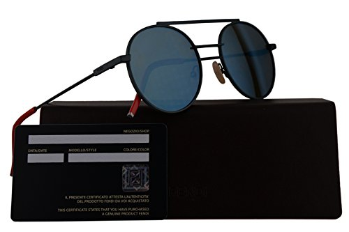 Fendi FF0221/S Sunglasses Green w/Khaki Mirror Blue 52mm Lens 01ED FF0221S FF 0221S FF - Prescription Sunglasses Fendi