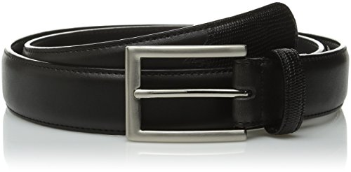 Stacy Adams Men's 31mm Smooth Genuine Leather with Lizard Embossed Tail and (Stacy Adams Embossed Belt)