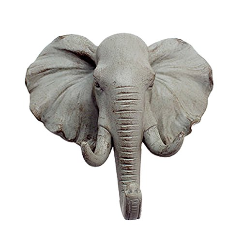 resin elephant head - 1