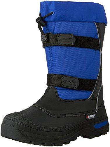 Price comparison product image Baffin Kids' Cedar Snow Boot, Black/Deep Blue, 7 M US Big Kid
