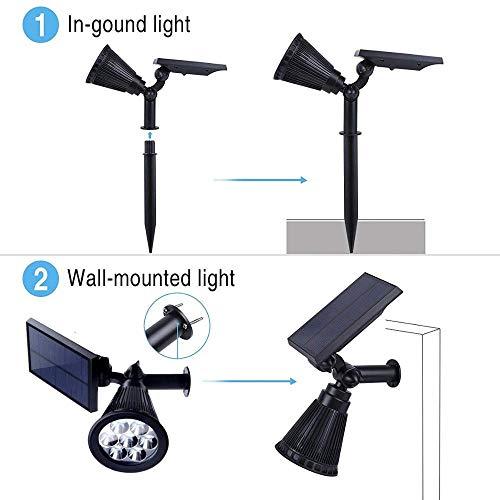 Appreciis Solar 7 Adjustable Spotlight Light Landscape Bright Security Night (2