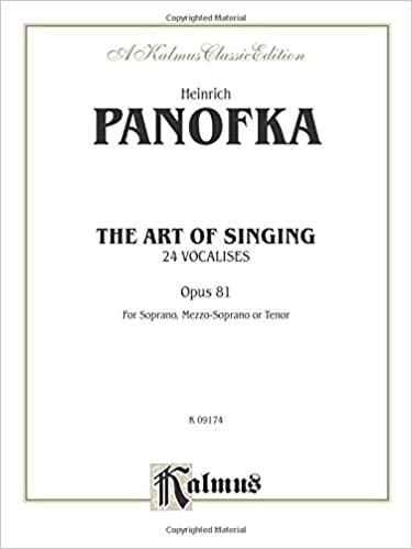 The Art of Singing: 24 Vocalises, Opus 81 (Kalmus Classic Editions)