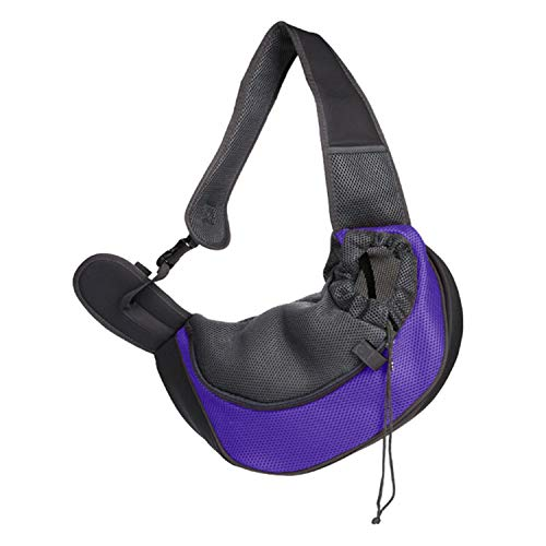 LIAOYLY Pet Puppy Carrier Outdoor Travel Handbag Pouch Shoulder Sling Mesh Oxford Comfort Tote Bag,with,L,China,