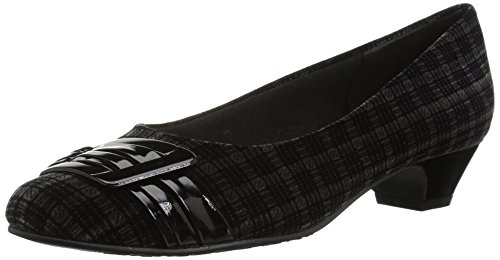 Dress Velvet You Puppies Plaid Black Patent with Be Style Pleats Hush by Women's Pump Soft qnzZwOA