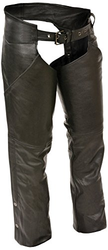 (Milwaukee Women's Basic Chaps with Deep Pockets (Black, Large))