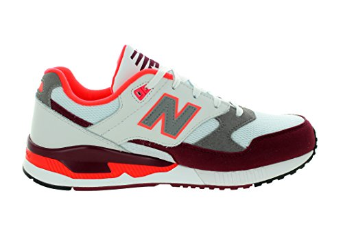 New Balance - SCARPE NEW BALANCE 530 GRIGIE E ROSSO BORDEAUX A/I 2016 M530AAA - 300782 White/Maroon