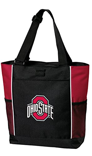 Broad Bay Ohio State University Tote Bags Red OSU Buckeyes Totes Beach Travel by Broad Bay