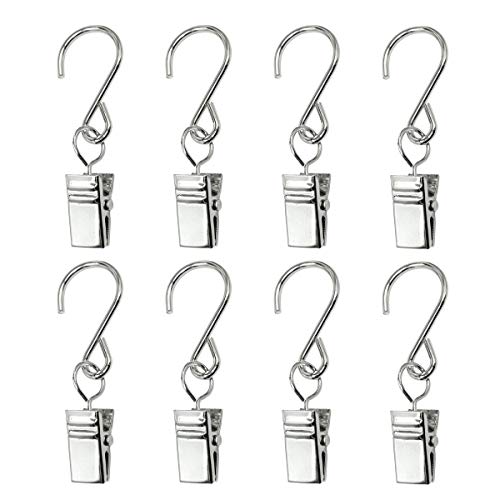 - GuangTouL Party Light Hangers Hook Rings, 30 Pack Outdoor Lighting Hooks Clips, Stainless Steel Curtain Clip/Metal Wire Holder Rope String Lights, Outdoor Activities Party Supplies
