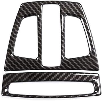 Topsale-ycld 2 Pezzi in Fibra di Carbonio Stile Laterale Aria condizionata Copertura del Coperchio per BMW Serie 3 F30 13-18