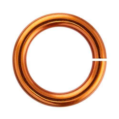 Weave Got Maille 18-Gauge 3.5mm Amber Enameled Copper Jump Rings, 1 oz