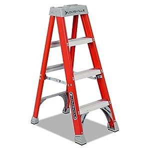 Louisville Ladder FS1504 300-Pound Duty Rating Fiberglass Platform Ladder, 4-Feet