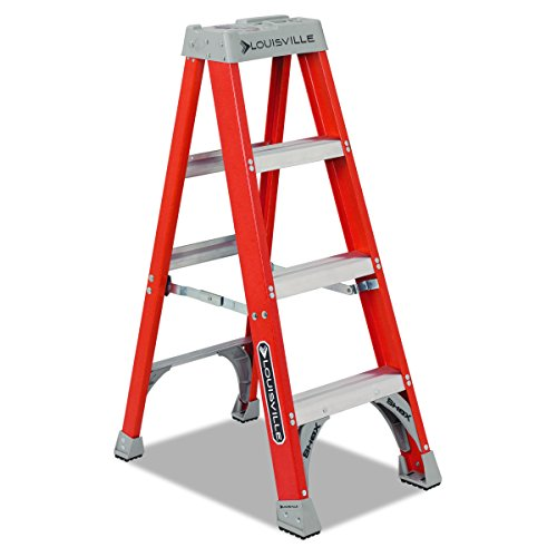 Louisville FS1504 Fiberglass Heavy Duty Step Ladder, 50