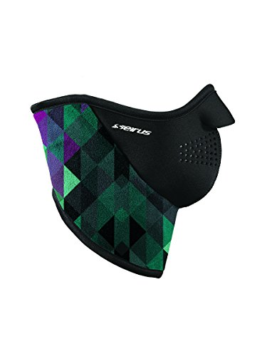 Seirus Innovation Neofleece Combo Scarf/Polartec Face Mask/Neck Warmer with Velcro Closure, Prisma Mint, Large Seirus Face Mask