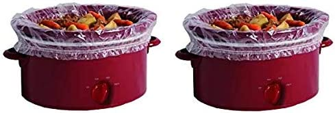PanSaver Slow Cooker Liners with a Sure Fit Band, 4 Count, fits 3 qt to 6.5 qt Tw k