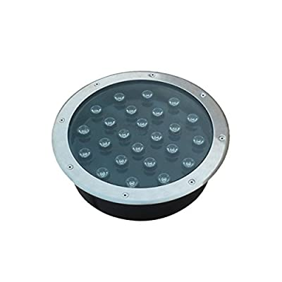 Round 24W LED Underground Light White AC85-265V Waterproof IP67 High Power Path Garden Buried Lamps Outdoor Floodlights