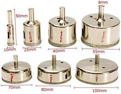 Lot de 7 scies-cloches diamant/ées de 80 mm pour carrelage c/éramique verre marbre porcelaine