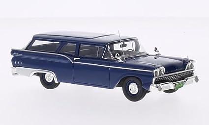 Amazon Com Ford Ranch Wagon Dark Blue 1959 Model Car Ready Made