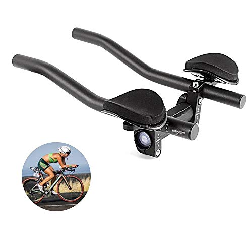 DSRong TT Handlebar Aero Bars Bicycle Rest Handlebar Bike Aluminium Alloy Arm Rest Handlebar Triathlon Aero Bicycle Tri Bars Relaxlation Handlebars for Road Bike and Mountain Bike (Best Road Bike For Triathlon)