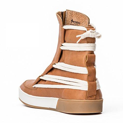 MCNDO Handgefertigte Schuhe für Männer Leder lässige hohe Stiefel und städtisch Mode Turnschuhe