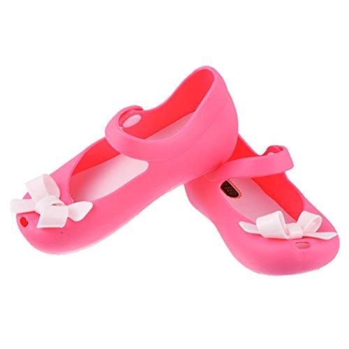 Encounter Mädchen Baby Kinderschuhe Sommer Loch Sandalen Laufenschuhe Prinyessin Schuhe Strandschuhe mit Schmetterling Rosarot