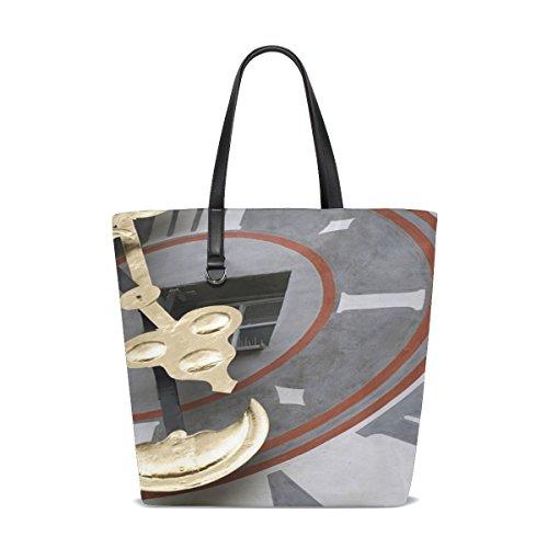 Dnoving Women Graz Austria Schlossberg Clock Watch Art Handle Satchel Handbags Shoulder Bag Tote Purse Messenger Bags