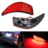 iJDMTOY Red Lens 33-SMD LED Bumper Reflector Lights 06-13 for Lexus IS250 IS350, Function as Tail & Brake Lamps