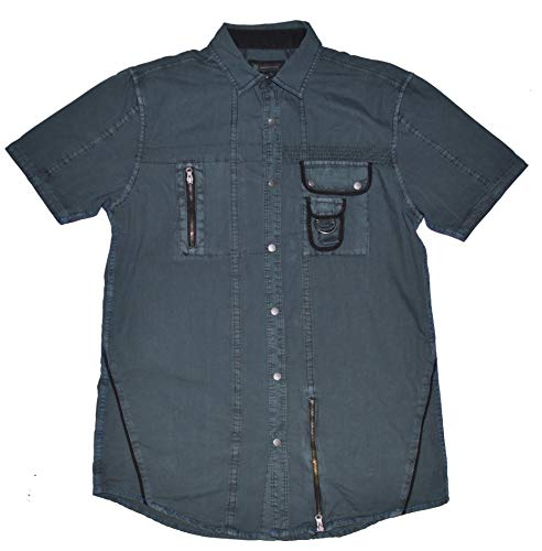 INC International Concepts Men's Short Sleeve Button Front Oxford Shirt (Small, Dark Lead) from INC International Concepts
