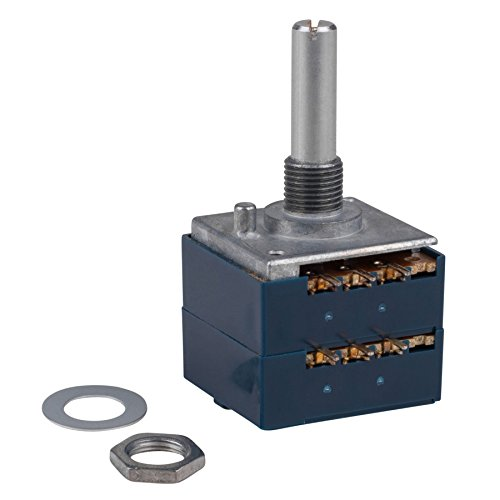 Audio Taper Stereo Potentiometer - Parts Express ALPS 10KAX2 10K Ohm Audio Taper Stereo Potentiometer 6mm Shaft