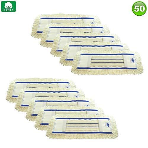 PREMIUM Wischmopp Mopp Mop Bodenwischer aus Baumwolle in 4 Größen - (10, 80 cm) B0185S0Y1S Bodenwischer & Mopps