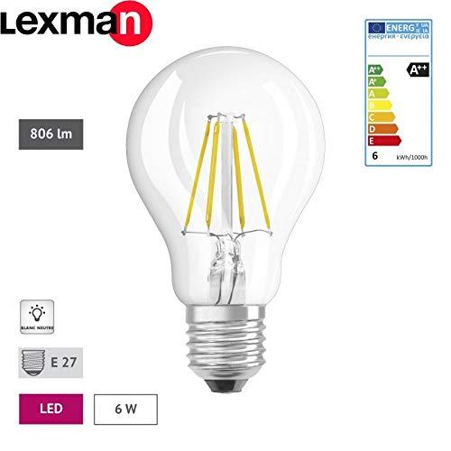 lexman - 282493 - - Juego de 6 bombillas LED - E27 - 6 W: Amazon.es: Iluminación