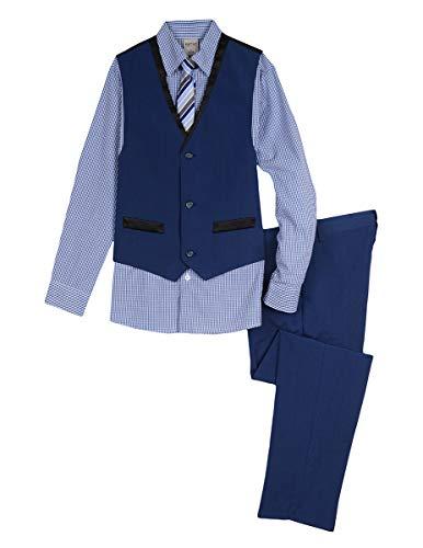 Kenneth Cole Boys' Big 4-Piece Formal Vest Set, Hope Diamond 16