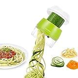 Handheld Vegetable Slicer, Adoric Vegetable Spiralizer Upgraded 4 in 1 Heavy Duty Veggie Spiral Cutter - Zoodle Pasta Spaghetti Maker