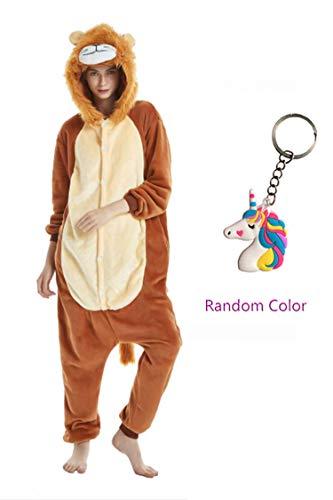 NOUSION Licorne Unisex Adult Pajamas, Cosplay Christmas Unicorn Sleepwear Onesies ()