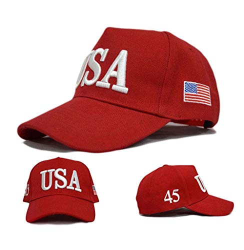 Engmoo Donald Trump Hat Make America Great Again Hat Adjustable Trump 2020 Hats for Men with USA Flag Cap